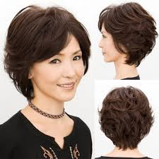 about young mom old gift women weave short curly wavy black brown