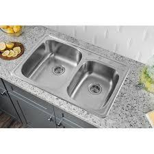 33 by 22 kitchen sink soleil 33 x 22 drop in double bowl kitchen sink reviews wayfair ca