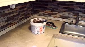 grouting ceramic tile kitchen back splash youtube