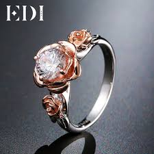 crystal diamond rings images Edi natural topaz rose flower crystal engagement ring beauty and jpg