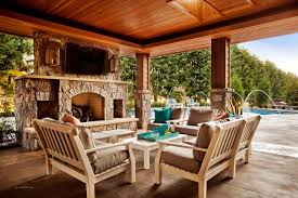 Flooring For Outdoor Patio Exterior Stunning Brown Wooden Frame Gazebo With Cream Travertine