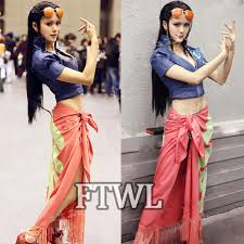 Female Robin Halloween Costume Aliexpress Buy Anime Piece Nico Robin Cosplay Costume