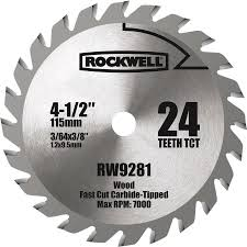 shop rockwell 4 1 2 in 24 tooth continuous carbide circular saw