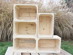 handmade small wood crate stackable made from reclaimed wood