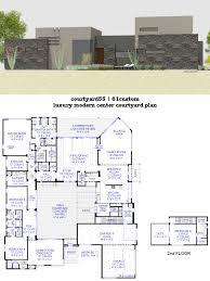 custom modern home plans baby nursery courtyard modern house plans small modern courtyard
