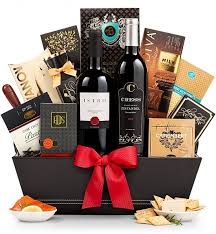 wine and chocolate gift basket the 5th avenue wine gift basket gifttree