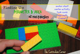 perimeter and area of rectangles the curriculum corner 4 5 6