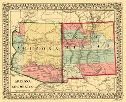 Map Of Colorado And New Mexico by Map Antique Map Of Arizona California Colorado Nevada New Mexico