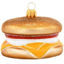 breakfast sandwich ornament poland made european made