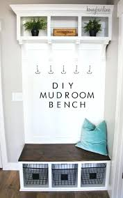 entryway storage bench with coat hooks image of modern entryway