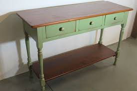 Farmhouse Console Table Hand Made Green Farmhouse Console By Ecustomfinishes Reclaimed
