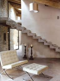 Rustic Modern Design Rustic Modern House With Concrete Stair Interior Concrete Stairs
