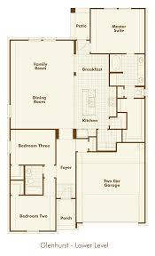 new home floorplan glenhurst in northlake tx 76226
