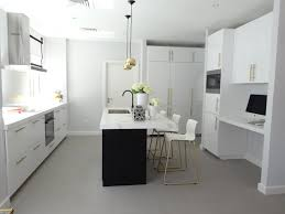 black u0026 white kitchen with brass and gold accessories high gloss