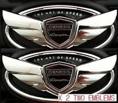 hyundai genesis coupe 3 8 supercharger kit hyundai genesis coupe 2 0t turbo 3 8 v6 chrome wing emblem set