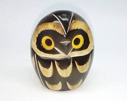 Owls Home Decor White Owl Figurine Etsy