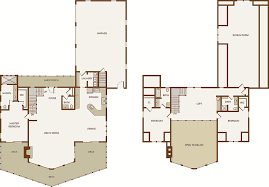 wood cabin floor plans log cabin floor plans with loft and garage home pattern