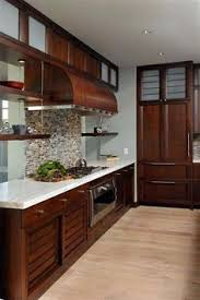 Kitchen Cherry Cabinets Kitchen Makeover Reveal Cherry Cabinets Marble Tiles And