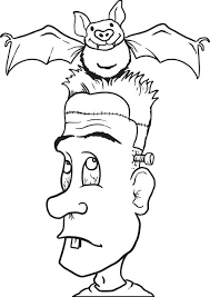 free printable frankenstein coloring kids 3