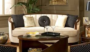 furniture white leather curved sectional sofa with round table