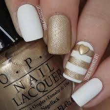 55 super easy nail designs gold stripes white gold and gold