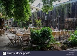 garden of casa boema restaurant in cluj napoca second most