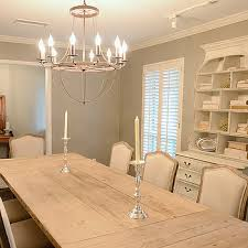 concrete top dining table transitional dining room benjamin