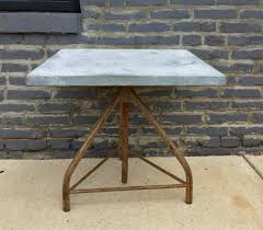 Zinc Top Bar Table Tables Barefoot Dwelling