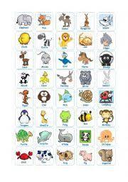 worksheet animal bingo s cards