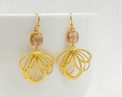 gold chandelier earrings chandelier earrings etsy