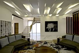 Sophisticated Indian Apartment With Woven Staircase InteriorZine - Apartment ceiling design