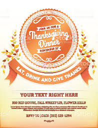 thanksgiving dinner invitation template stock vector 483468430