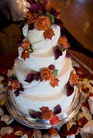 fall wedding cakes fall wedding ideas and invitations purple and orange wedding