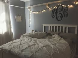 my room teenage bedroom fairy lights grey white bedroom room