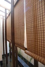 decorating interesting matchstick blinds for enchanting patio design