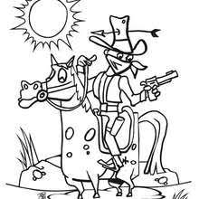 wild west coloring pages hellokids