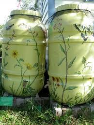 To Make End Decorative Traverse by Making Decorative Rain Barrels For Function Garden Design Ideas