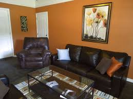 Burnt Orange Dining Room Living Room Color Schemes With Brown Furniture Pueblosinfronteras