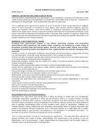 Resume Summary Examples Administrative Assistant by Assistant Administrative Assistant Resume Description