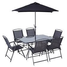 miami patio set 8 piece garden furniture asda direct home