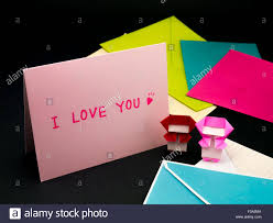 message card for your family and friends i you stock photo