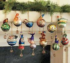 pottery barn glass ornaments ebay