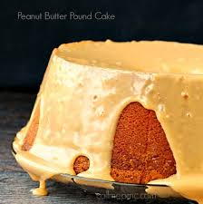 peanut butter pound cake with peanut butter glaze