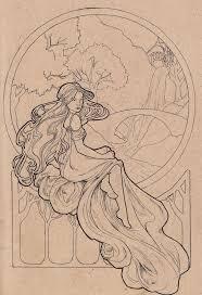 66 best art nouveau coloring book pages images on pinterest
