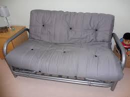 metal frame sofa bed double futon sofa bed metal frame with reversible mattress black
