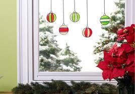 ornament window clings project plaid