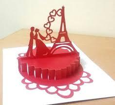3d popup paris love anniversary greeting card handmade best at rs