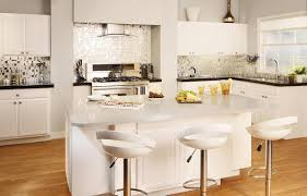 Modern White Kitchen Backsplash Kitchen Design 20 Photos White Mosaic Tile Kitchen Backsplash