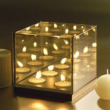 Mirror With Candle Sconces Infinite Reflection Glass Candle Holder B2btrademarketing Com