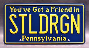Pa Vanity Plates Rock Star Chris Cole U0027s Dodge Dart Stldrgn Embossed Vanity License